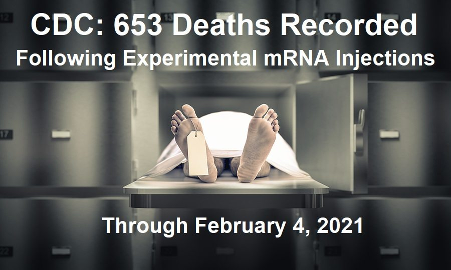 CDC: 653 Deaths Now Recorded Following Experimental mRNA COVID Injections with 12,697 Reported Injuries CDC-653-Deaths-COVID-Injections