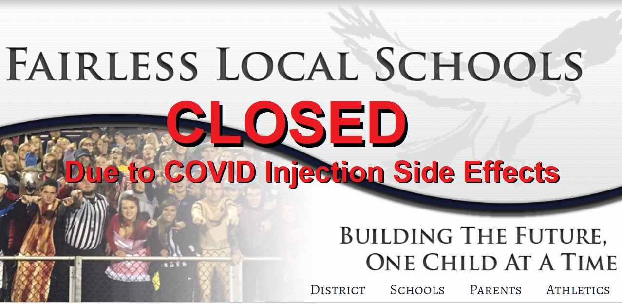Entire School District in Ohio Cancels Classes After Too Many School Staff Have Negative Reactions to the Experimental COVID mRNA Injections Fairless-School-Disctrict-Closure