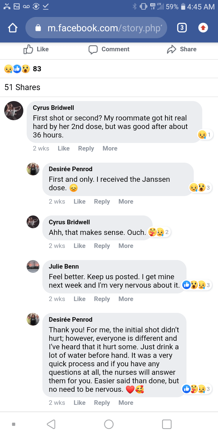 People Now Dying Following the Experimental Johnson and Johnson COVID Injections Desiree-comments
