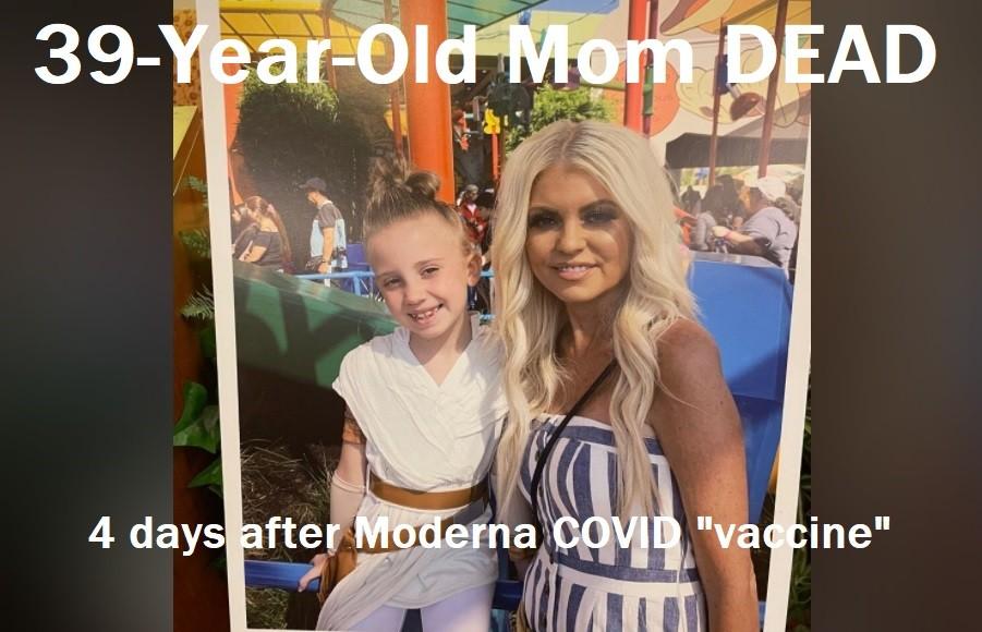 39-jährige Chirurgin und Mutter stirbt 4 Tage nach der zweiten experimentellen COVID- mRNA-Spritze von Moderna