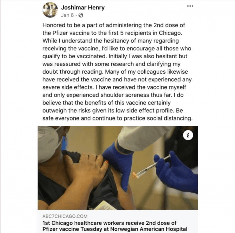 Healthy 27-Year-Old Chicago Doctor DEAD 3 Months Following COVID Shots Raising Long-term Safety Concerns Joshimar-Henry-Facebook-768x760-1