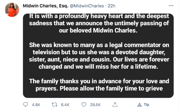 Midwin Charles: 47-Year-Old MSNBC Legal Analyst DEAD After Experimental mRNA COVID Shot Midwin-family