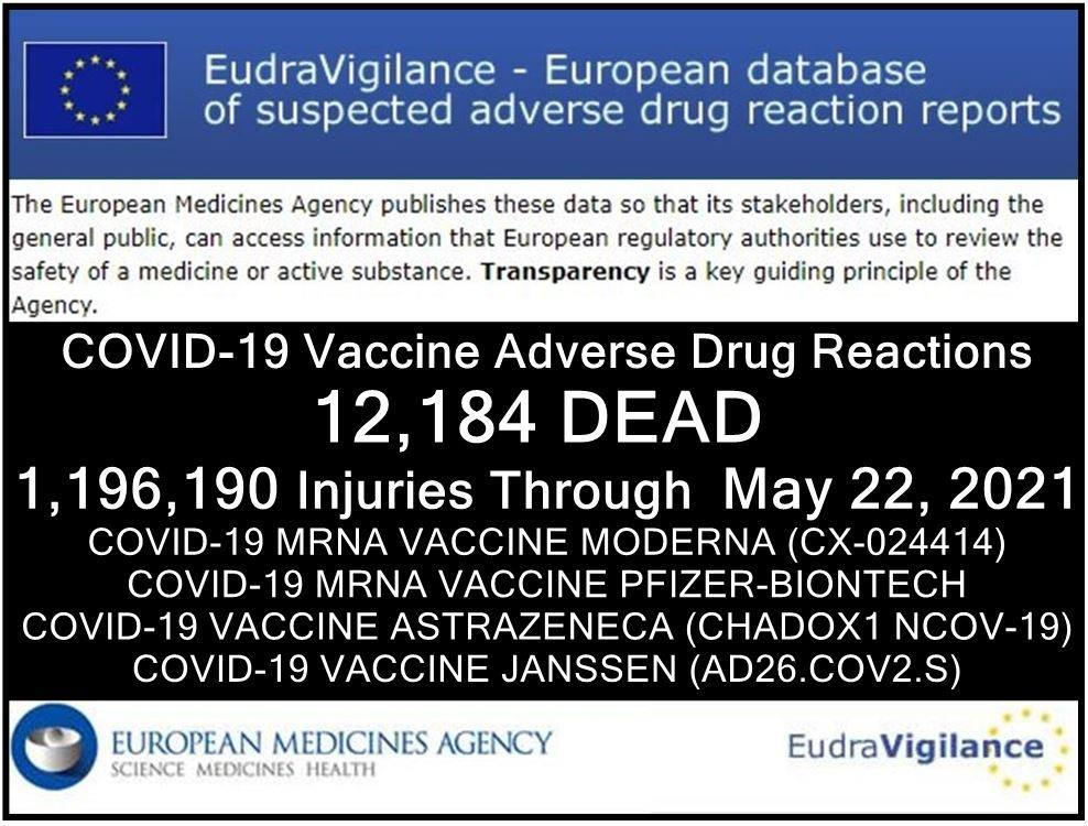 EUDRA Adverse Reaction Stats Though May 22nd, 2021 22052021-eu-injuries