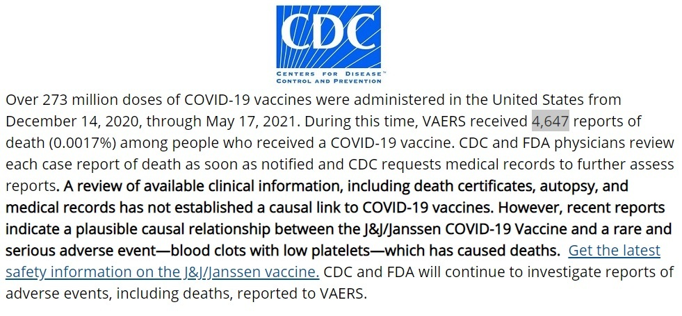 CDC Stats through May 17th, 2021 CDC-deaths-5.17-screenshot