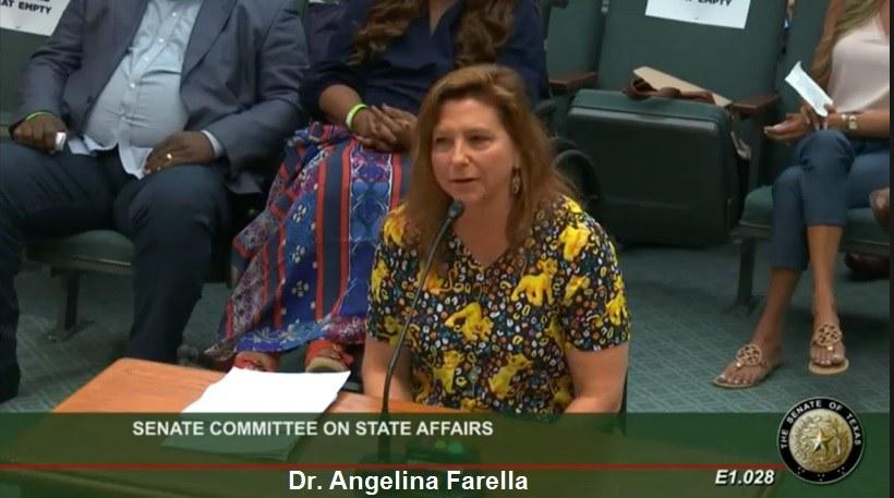 Medical Doctors Testify Before State Senate in Texas! Dr.-Angelina-Farella