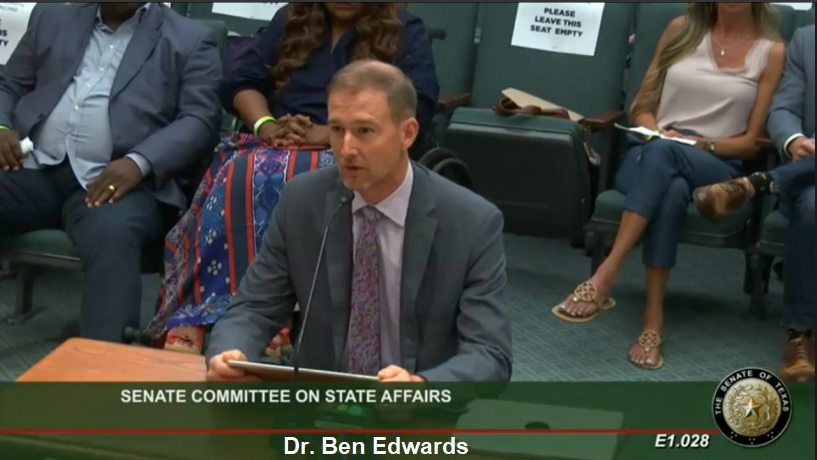 Medical Doctors Testify Before State Senate in Texas! Dr.-Ben-Edwards