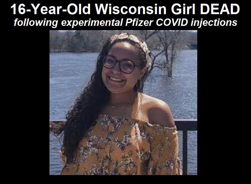 Nach der 2. Dosen der experimentellen Pfizer-Impfung stirb ein 16-jähriges Mädchen aus Wisconsin