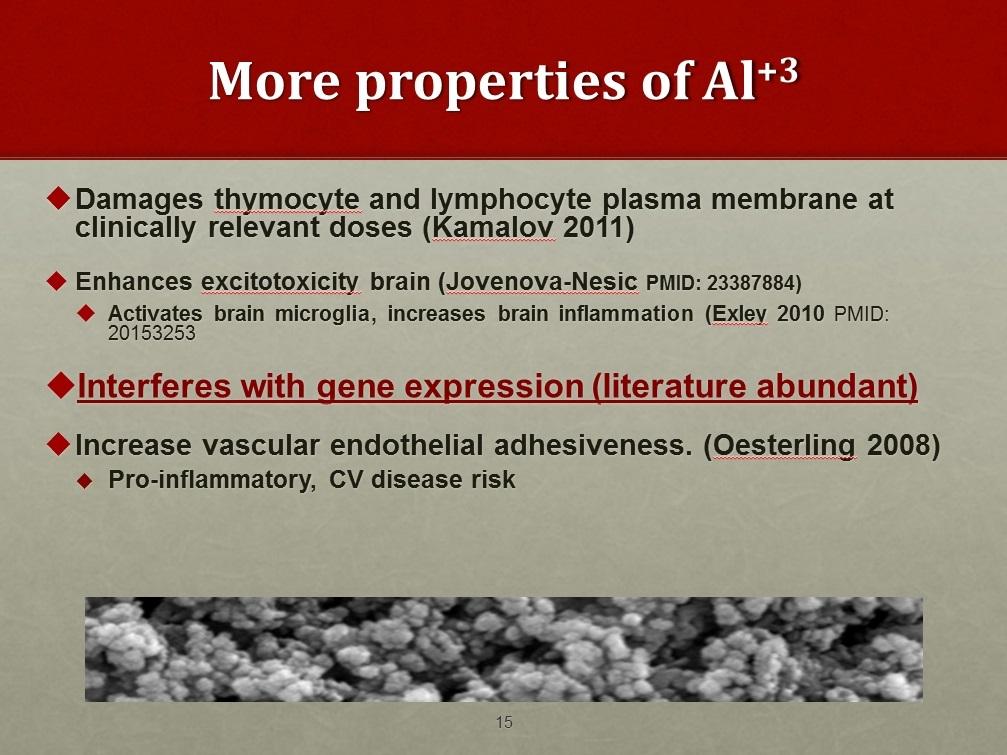 More Properties of Aluminum toxicity
