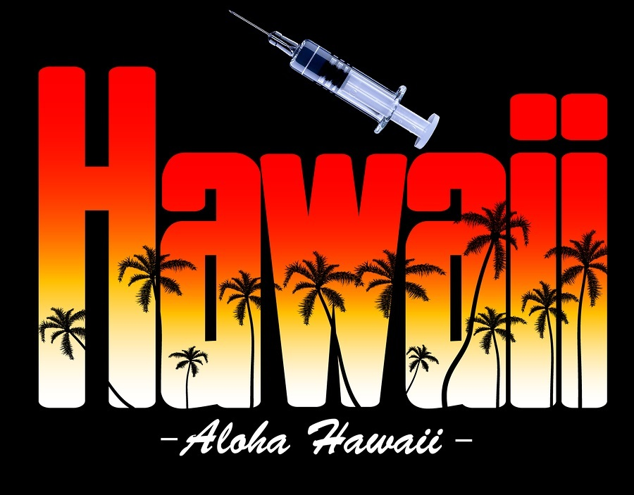 Aloha Hawaii Creative with Vaccine Needle