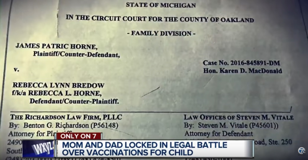 Michigan Court Order Forced Vaccination