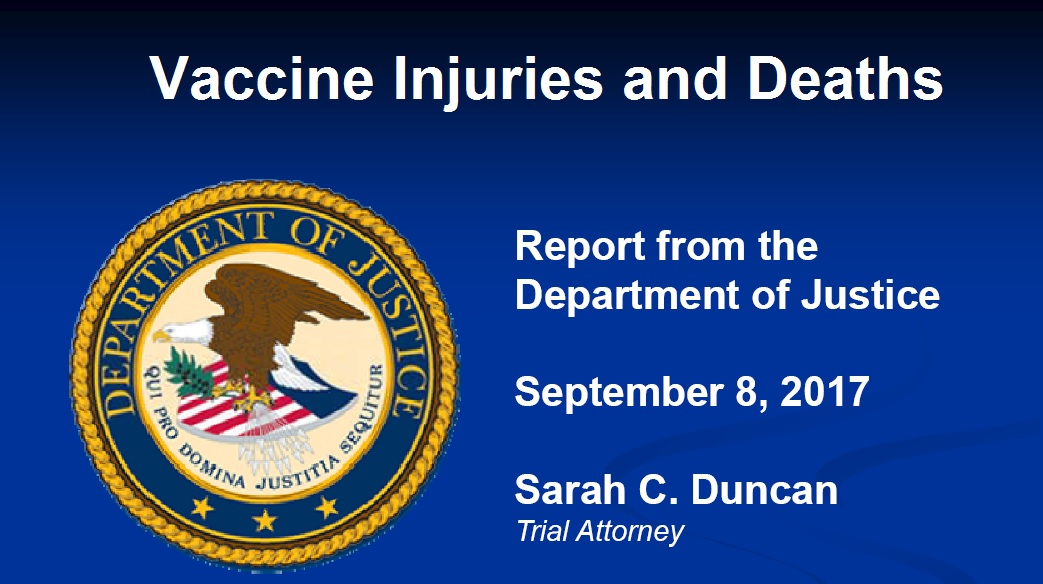 September DOJ Vaccine Injuries and Deaths Report