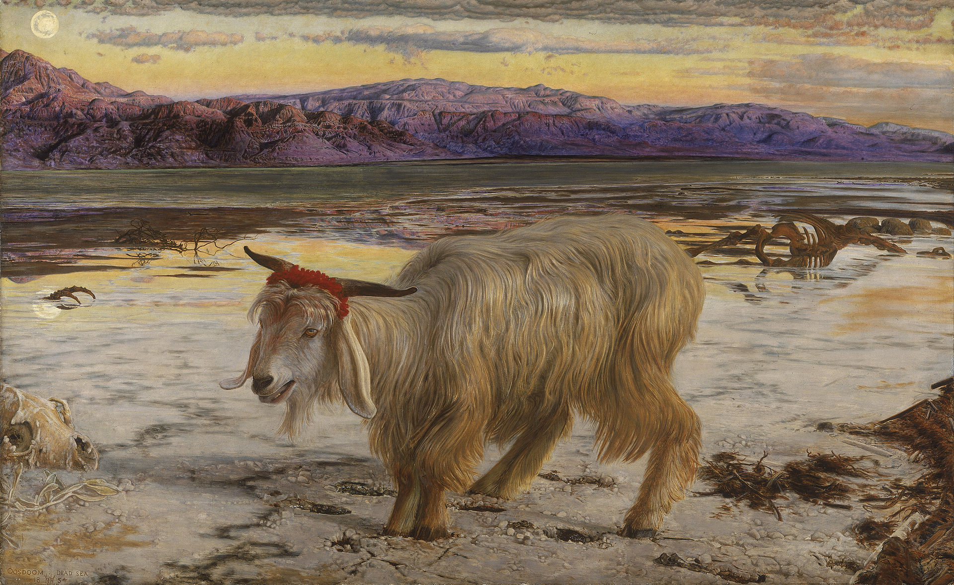The Scapegoat by William Holman Hunt, 1854.