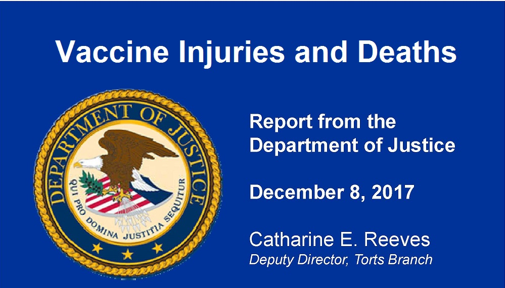 DOJ Update Vaccine Injuries and Deaths 12.17