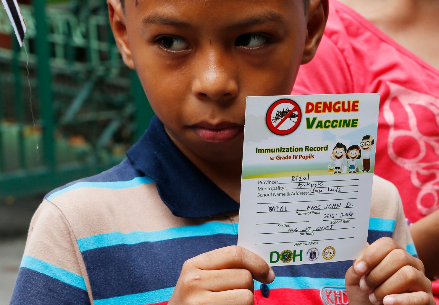 dengue vaccine philippine school children