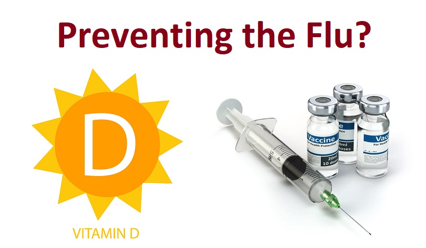 Vitamin D Icon with Sun Vector and vaccine syringe with vials image