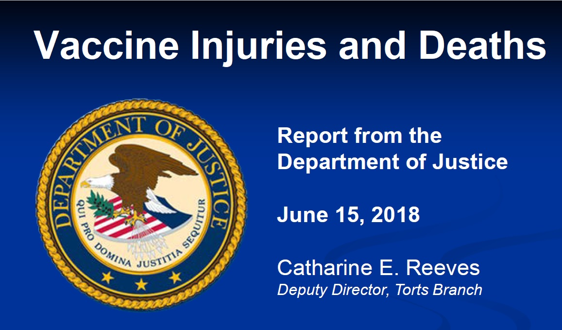 cover slide doj vaccine injuries deaths litigated