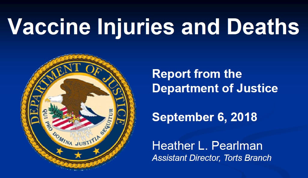 September 2018 DOJ Report Vaccine Injuries and Deaths