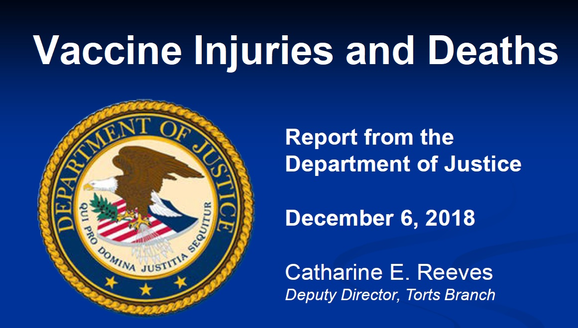 DOJ Vaccine Injuries and Deaths Report