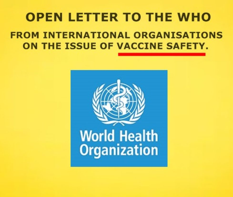 open letter to the WHO