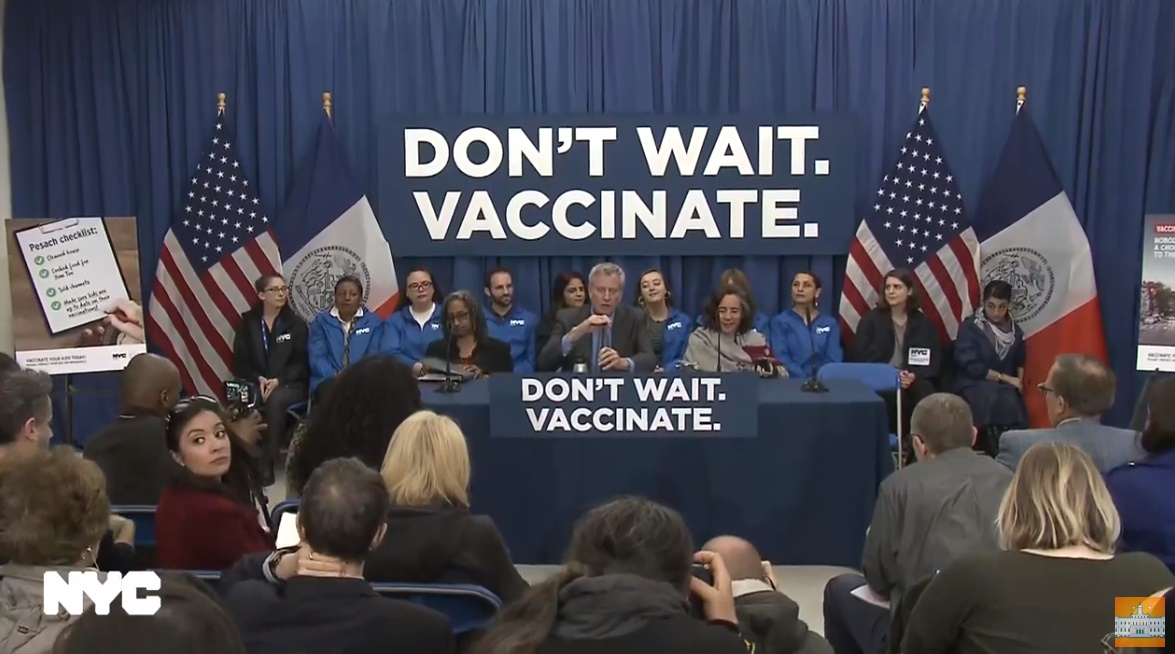 BREAKING: NYC Mayor Bill de Blasio Orders Forced Vaccinations in Brooklyn plus more NYC-Ban-Unvaccinated