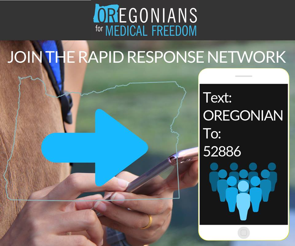 Lawmakers, Doctors, Attorneys and Oregon Public Oppose Secretive Bill to Force All Vaccines on Oregon Children Oregonians-for-Medical-Freedom-Rapid-Response