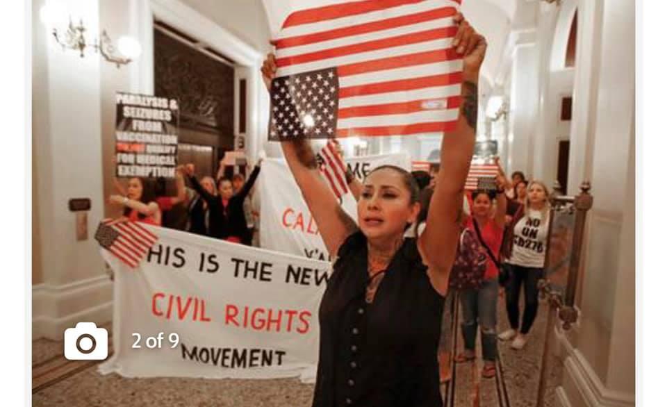 Protesters in Sacramento opposing SB 276 photo