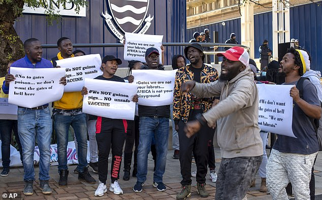 """Bill Gates We Are Not Your Lab Rats!"" Africans Protest COVID Vaccine Trials Among Poor Africa-protests-covid-vaccine-2"